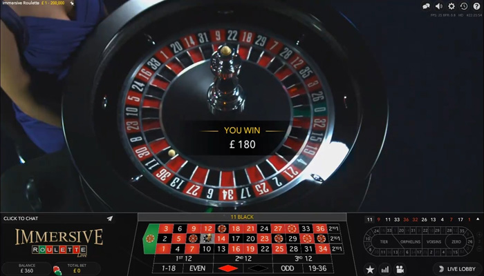 Immersive Roulette (Evolution)